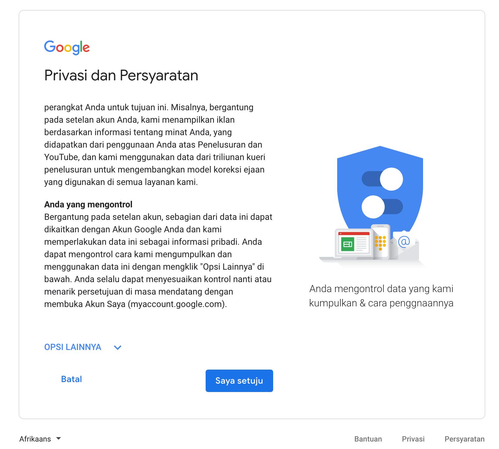peraturan gmail